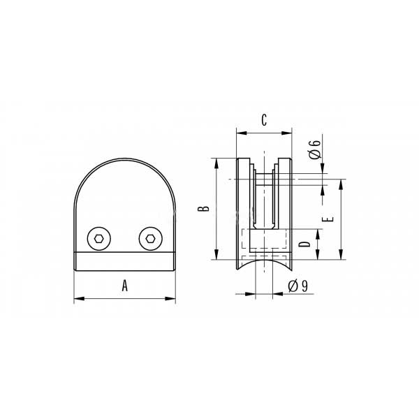 fabricationsupplies.co.uk-glass-d-clamp-tube-mount-FS-GC316D-specification